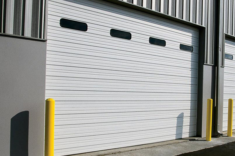 Steel Sectional Doors. We carry both insulated and non-insulated sectional steel doors.