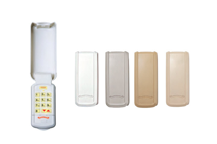 Wireless Keypad. Lighted keypad with flip cover and lets you control up to 3 garage door openers.