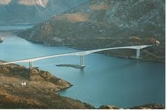 Raftsundet Bridge - Located more than 300 kilometers north of the Arctic Circle, the recently completed Raftsundet Bridge provides a road connection between the Lofoten Archipelago and Norway's mainland highway system.