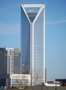 DUKE ENERGY CENTERCharlotte, NC - The new 48-story Duke Energy Center tower at 764 ft (233 m) is the second tallest building in Charlotte, NC and the tallest in the world to use precast, prestressed double tees. Lightweight concrete double tees and a lightweight concrete topping slab allowed a reduction of one inch of concrete and maintain a two-hour fire rating.