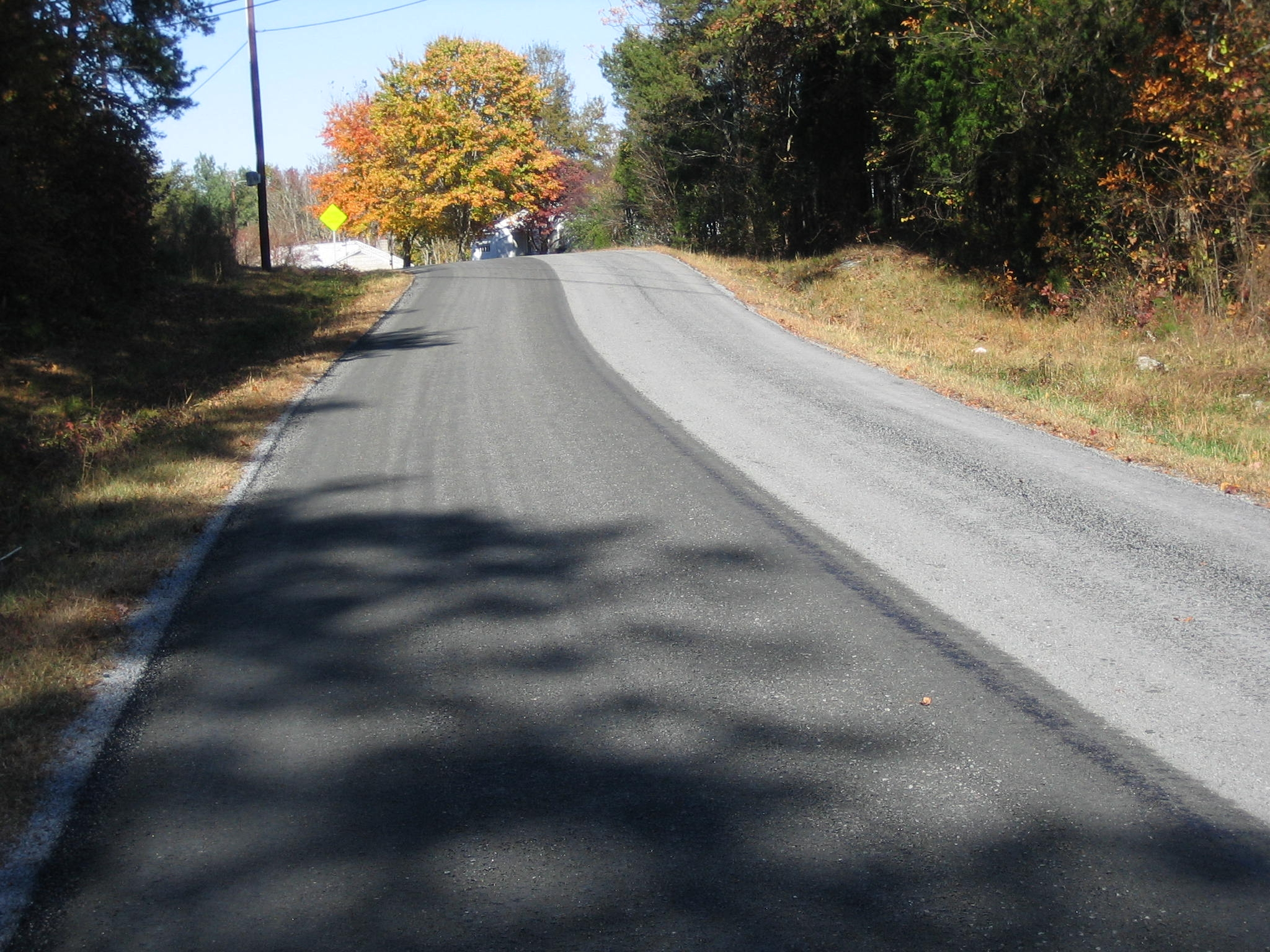NCDOT, Division 9-Rowan County, NC - Shuping Mill Road in Rowan County, NC paved with Vulcan 78M on the right side with STALITE lightweight aggregate screenings applied as the second seal in the left side.