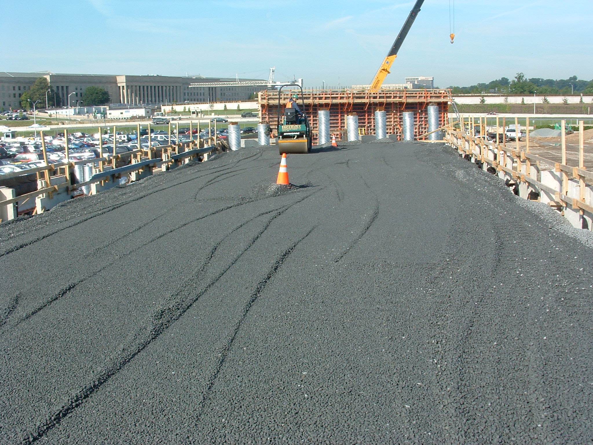 Secure Pentagon Entrance - Construction is underway on the new Pentagon Secure Bypass (PSB), a $25-million design-build project and a significant component of the ongoing Pentagon Renovation Program.