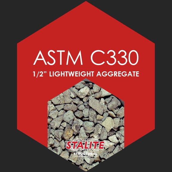 "ASTM C330 1/2""    Standard Specification for Lightweight Aggregates for Structural Concrete"