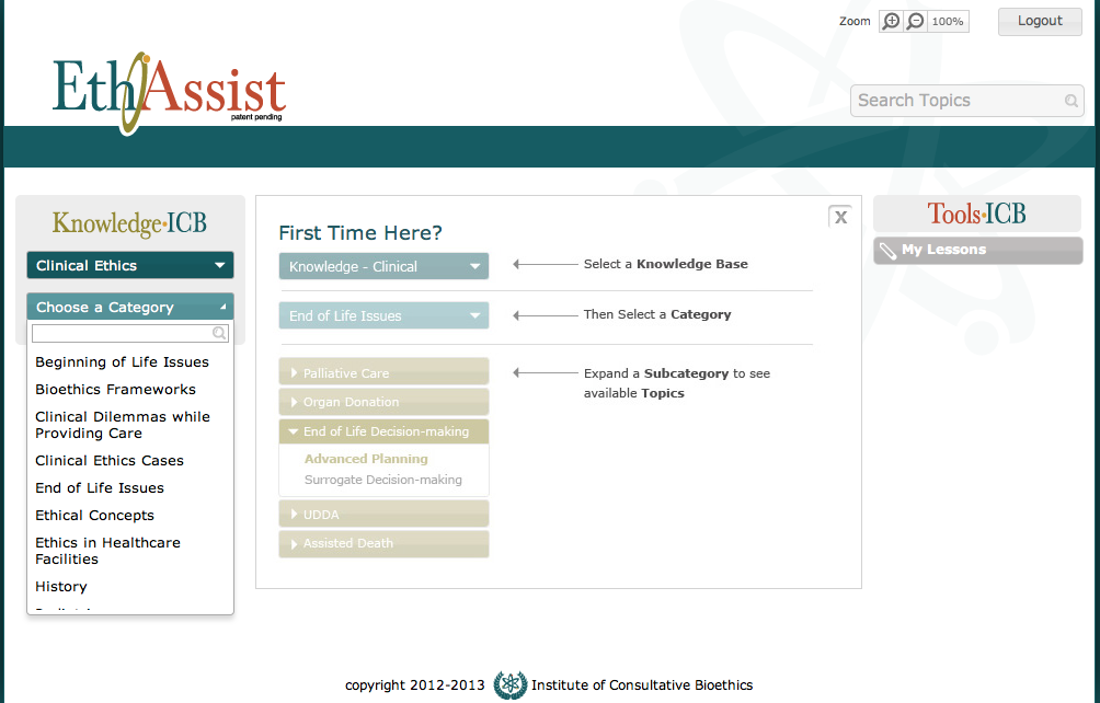 EthAssist Clinical Knowledge Base