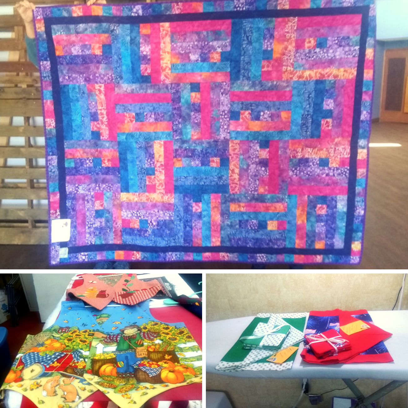 Vests, Quilts, Table Runners