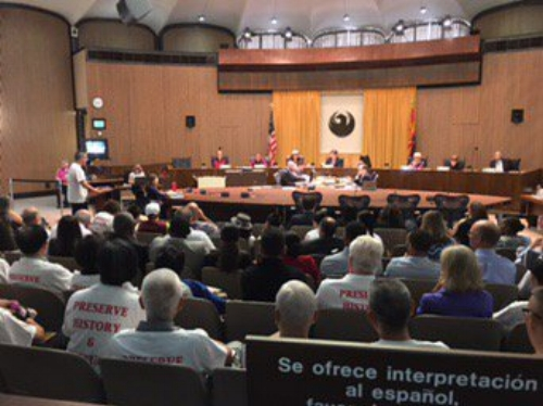 Citizen petition in the Phoenix City Council meetings for saving the Chinese Cultural Center
