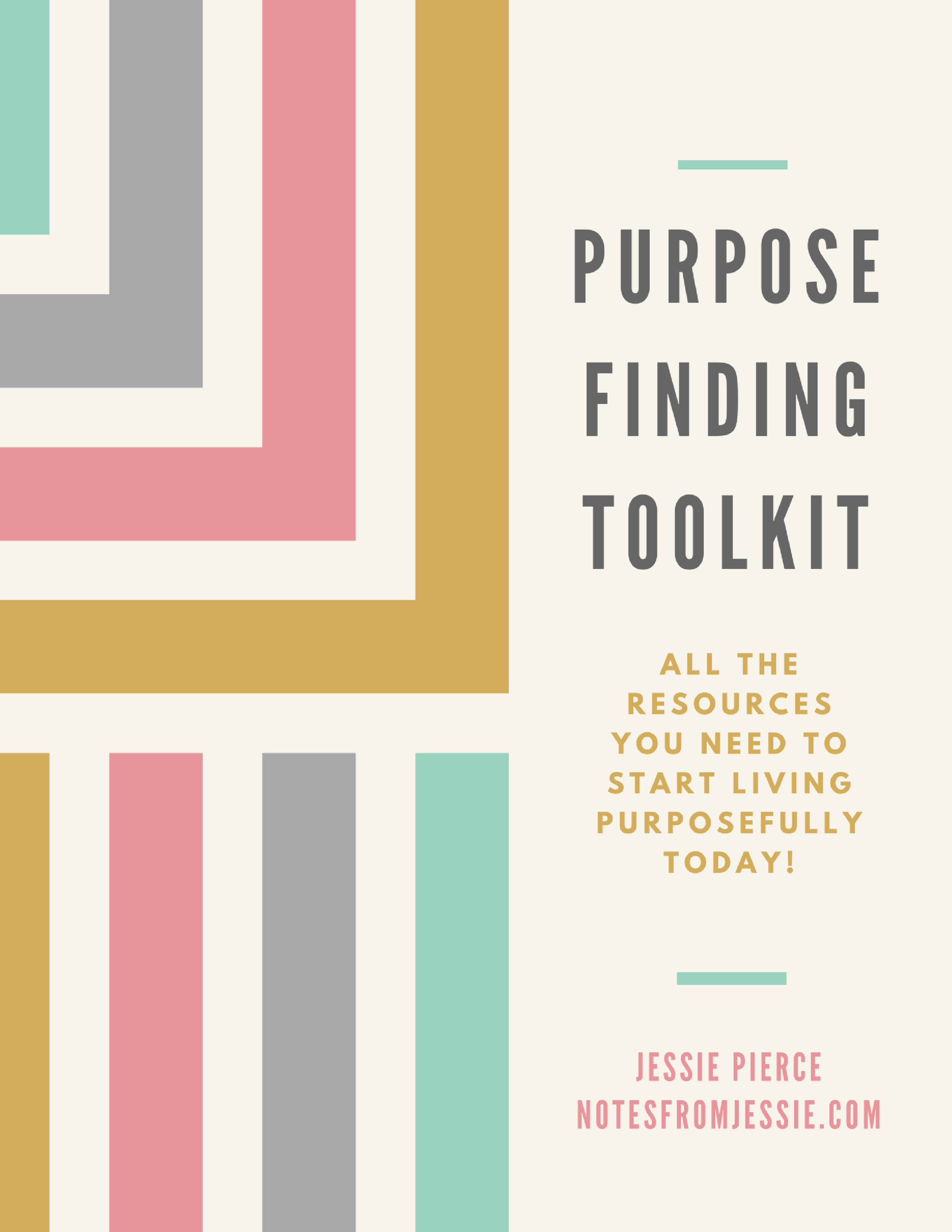 Congratulations on taking a step toward living your purposeful life! - Download your copy of the toolkit to get started!