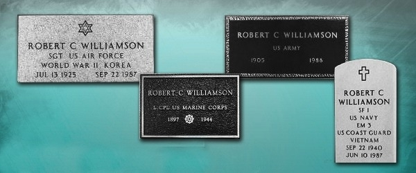 Marker Headstone - Headstone Marker Options (Left to Right)24