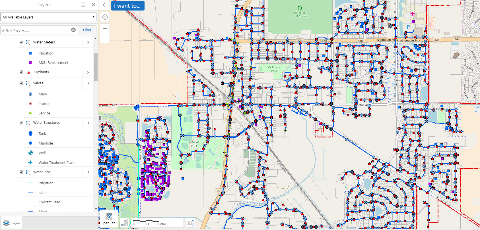 Water Distribution Map