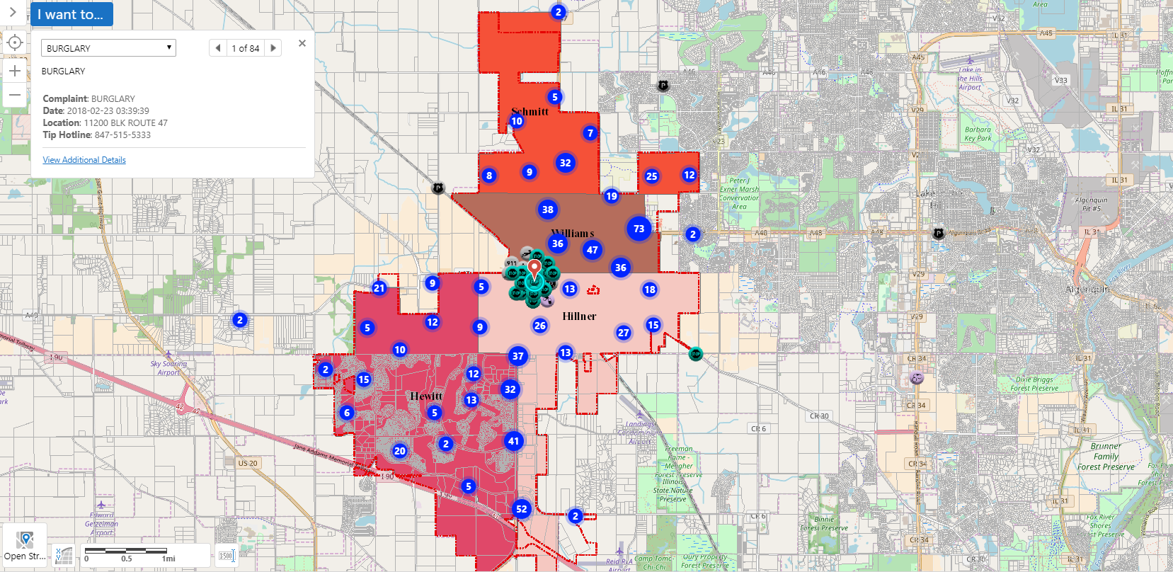 Police Beat & Incidents Map