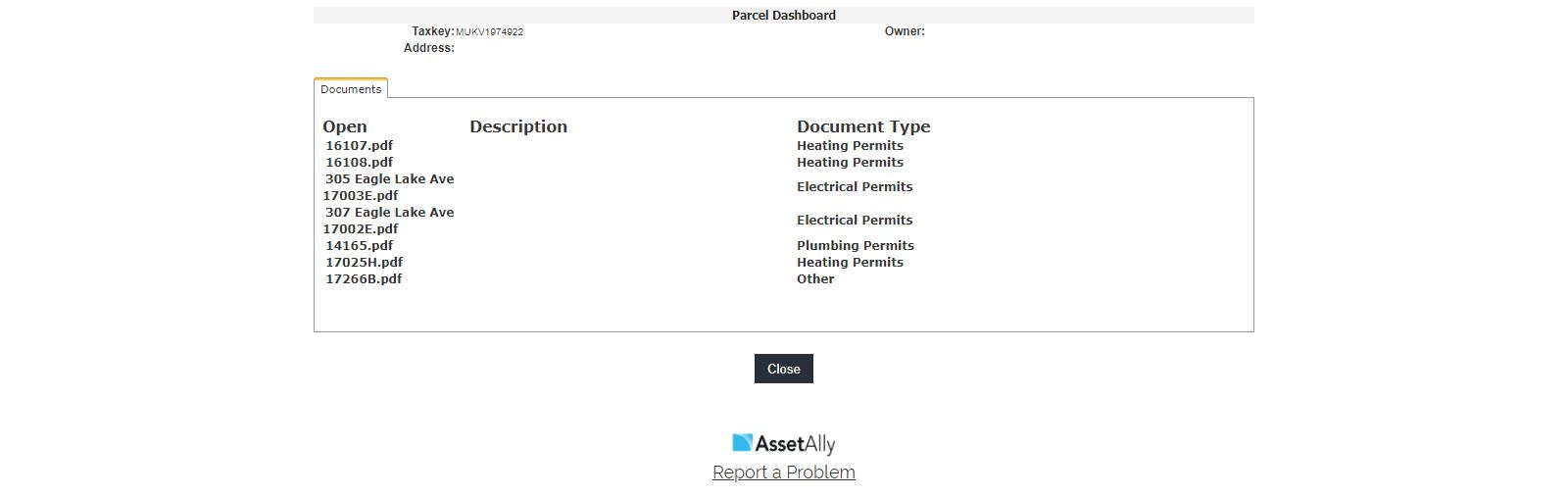 Parcel Documents by Property