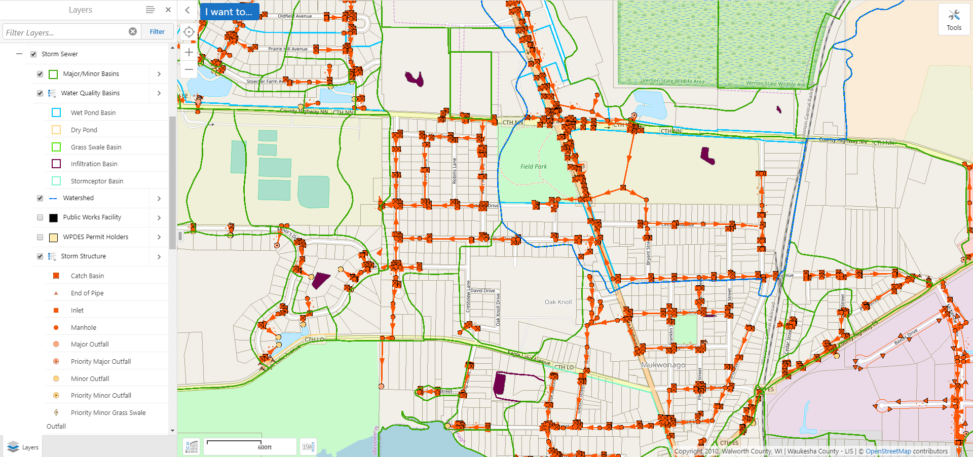 Storm Water System Map