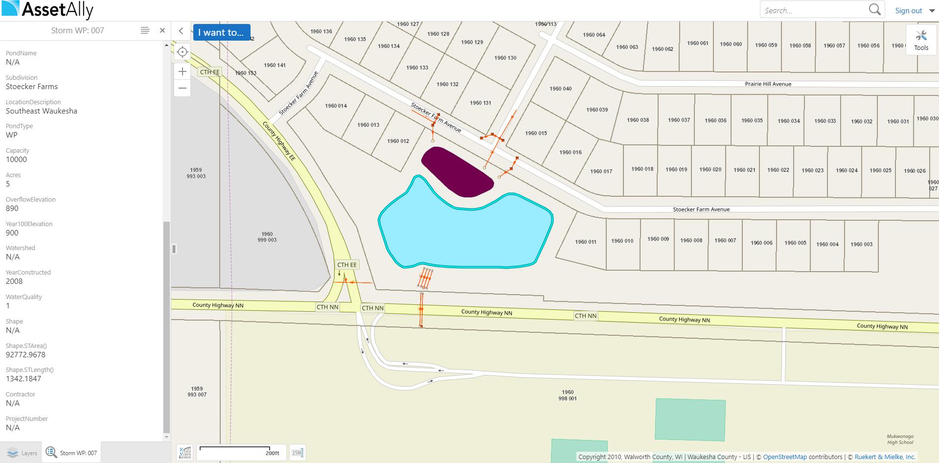 Pond Detail Map