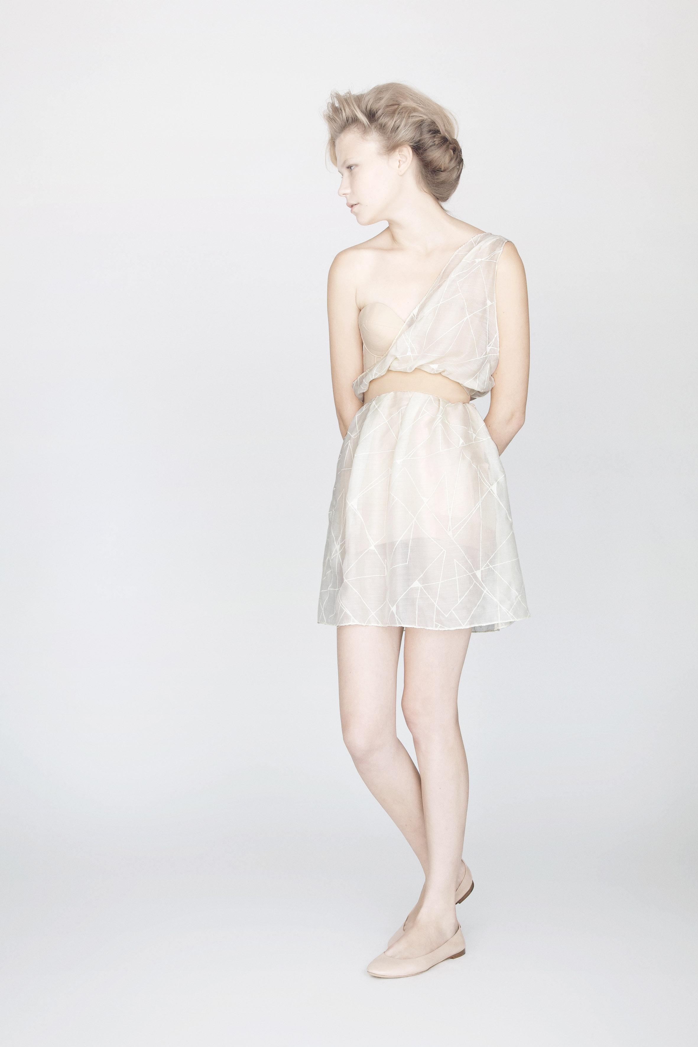 ASYMMETRIC MOUSSELINE DRESS IN HAND PRINTED SPIDERWEB PRINT.jpg