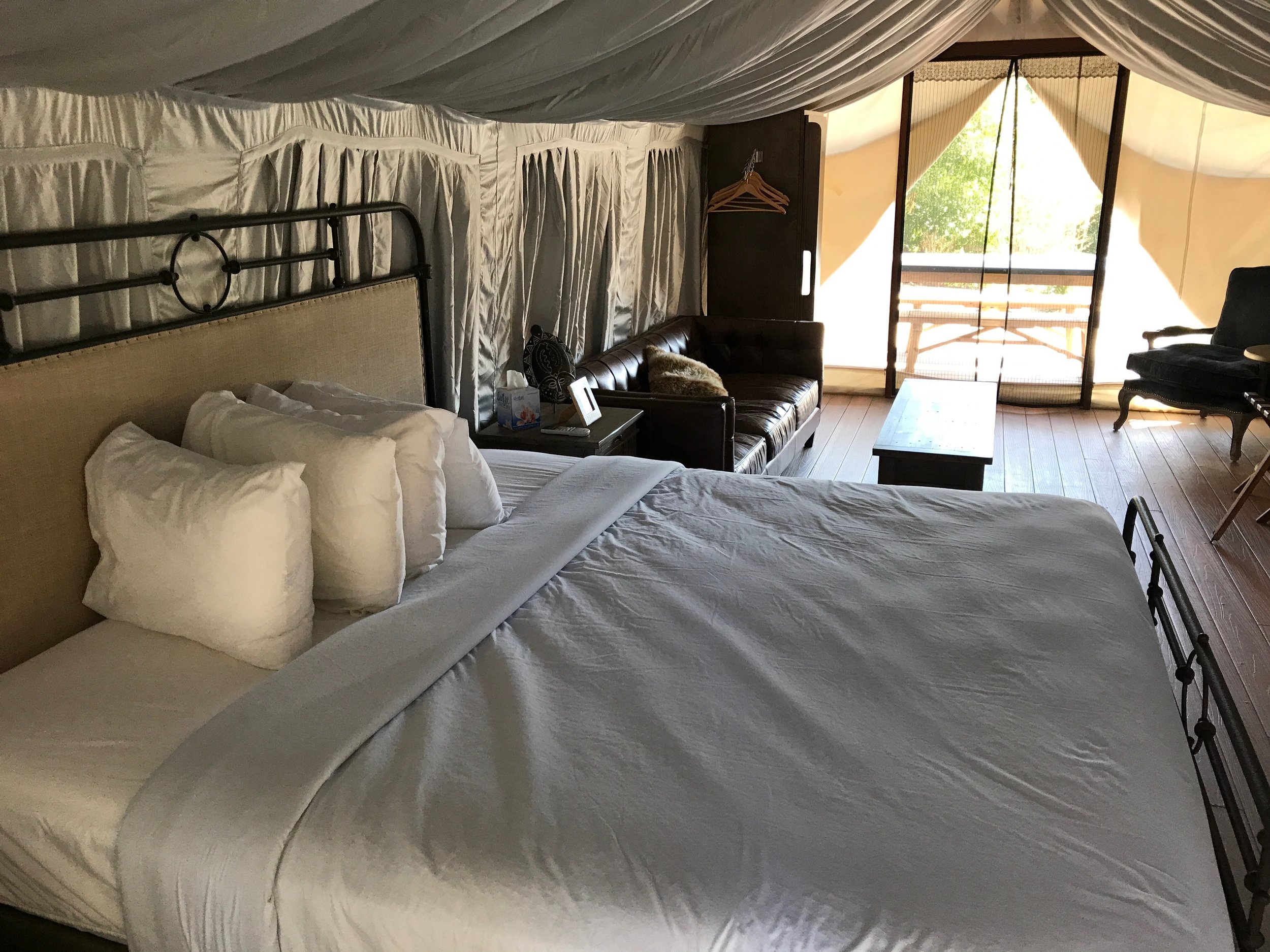 Luxury safari tent camping
