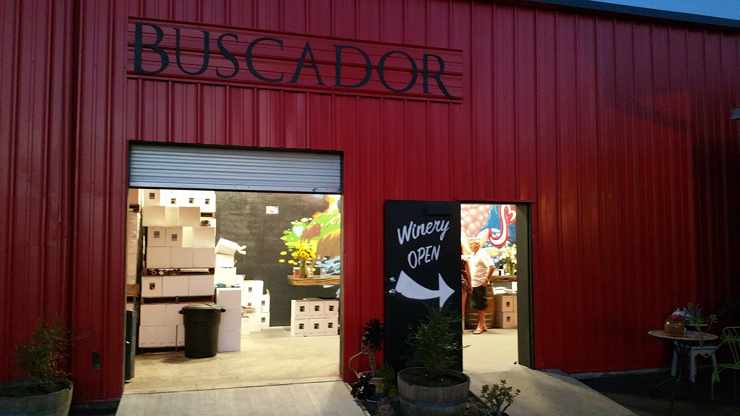 The buscador tasting room