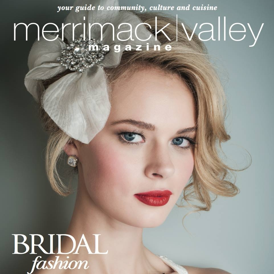 Salon Riza & Day Spa featured on cover & 8 page Bridal spread. Hair by Salon Riza.