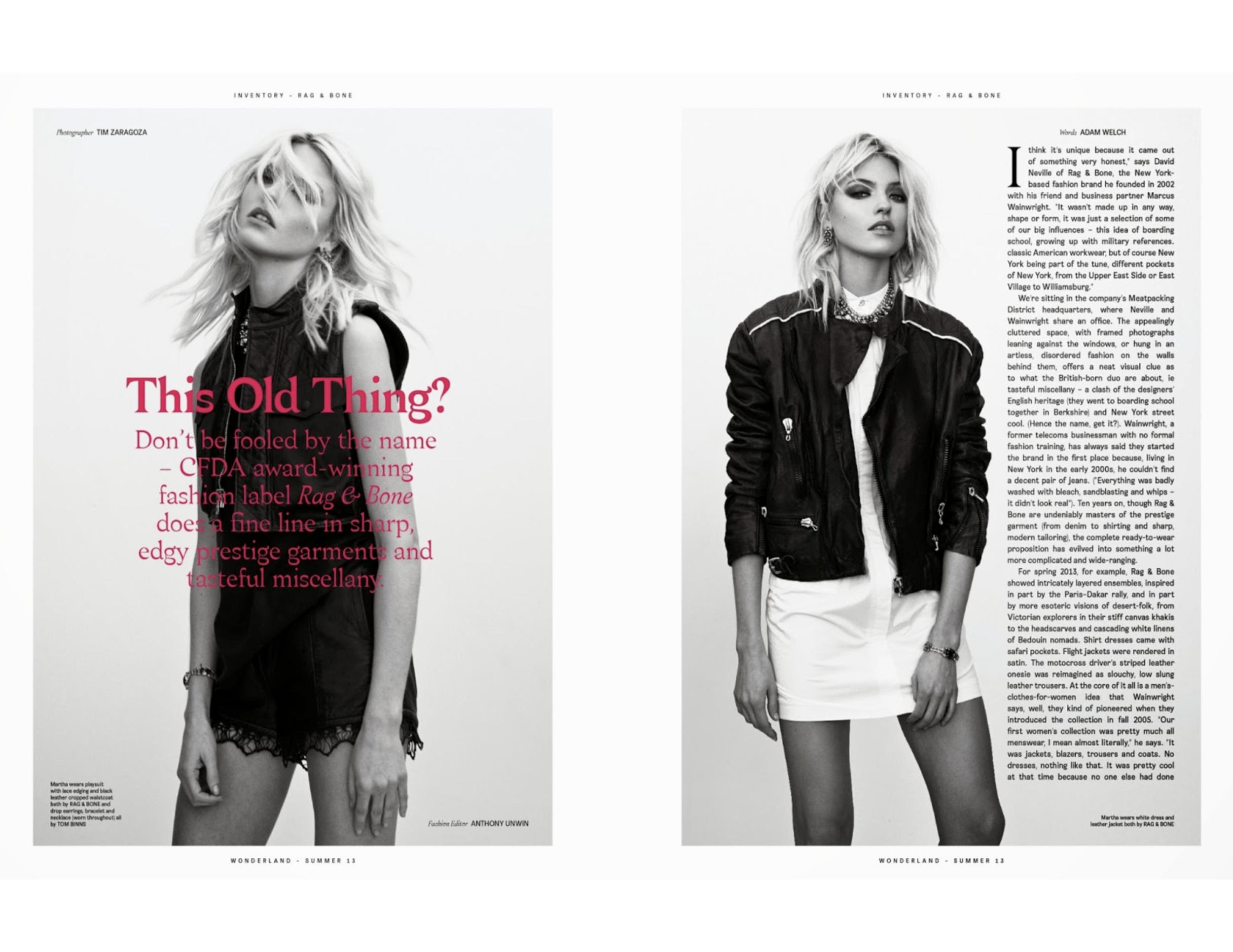 Martha Hunt - Wonderland Magazine