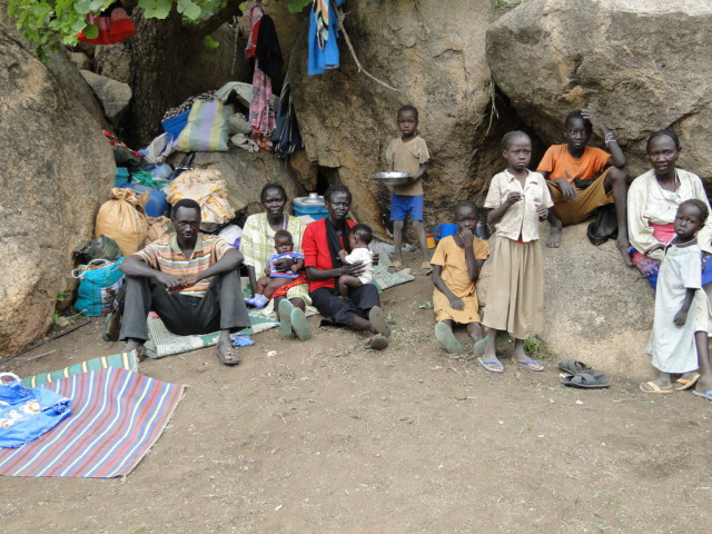 Thousands of Nuba families live in caves.
