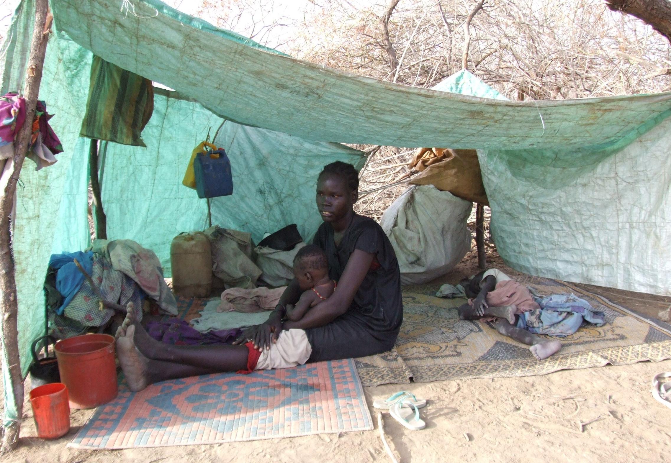 Refugee family in Jaac.JPG