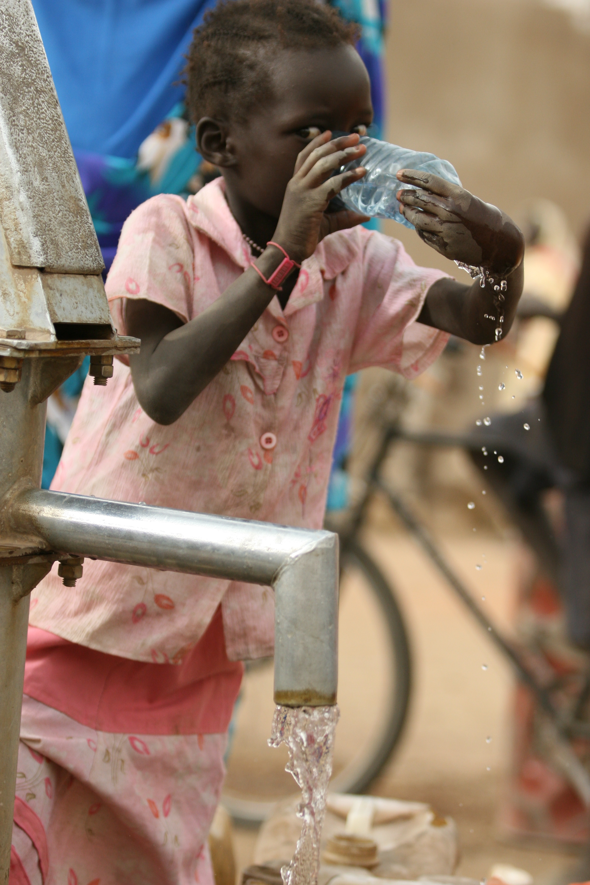 Clean water from Jaac borehole.JPG