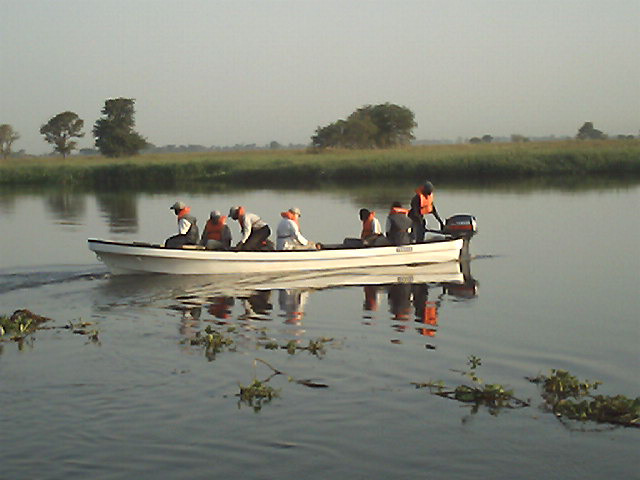 Testing the motor on the boat.JPG