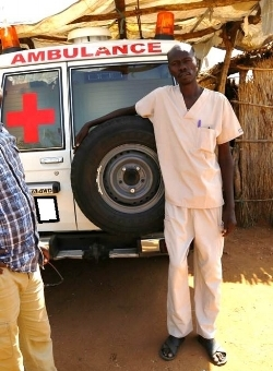 Dr. Ahmed with his ambulance