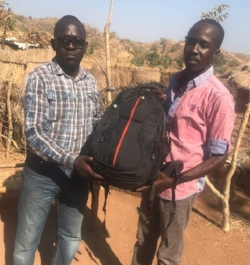 Backpack projectors allow pastors to take the Good News anywhere.