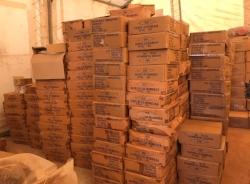 Bibles awaiting distribution