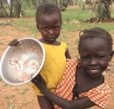 Empty bowls are sadly more common in the Nuba mountains.