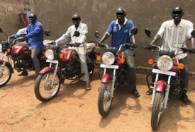 Four more pastors receive motorbikes for ministry