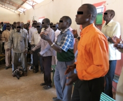 Worship songs open a pastors' conference.