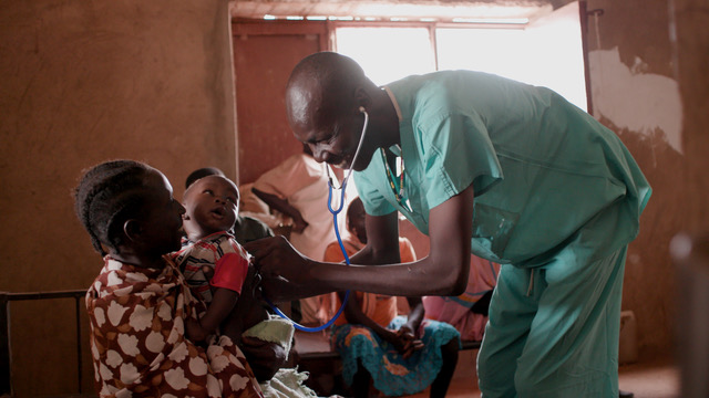 Dr. Ahmed's hospital serves up to 3,000 patients each month.