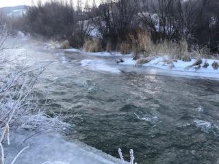 Border Ice on Flat Creek