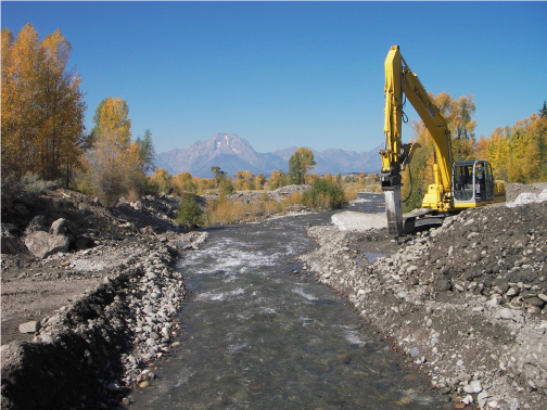 Fish passage restored during dam removal project phase.