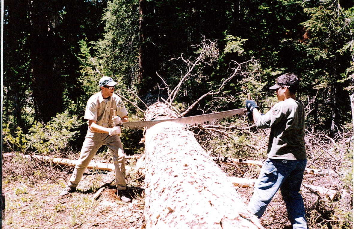 Robb (left) in 2003 up Phillips Canyon.