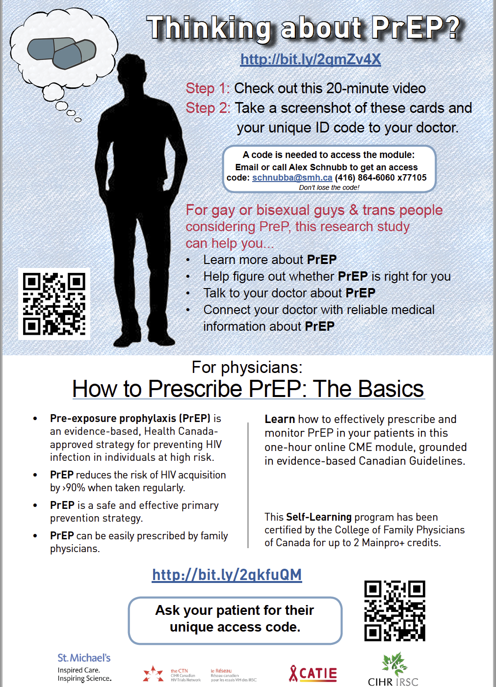 PrEP Research Study Patient Access Card