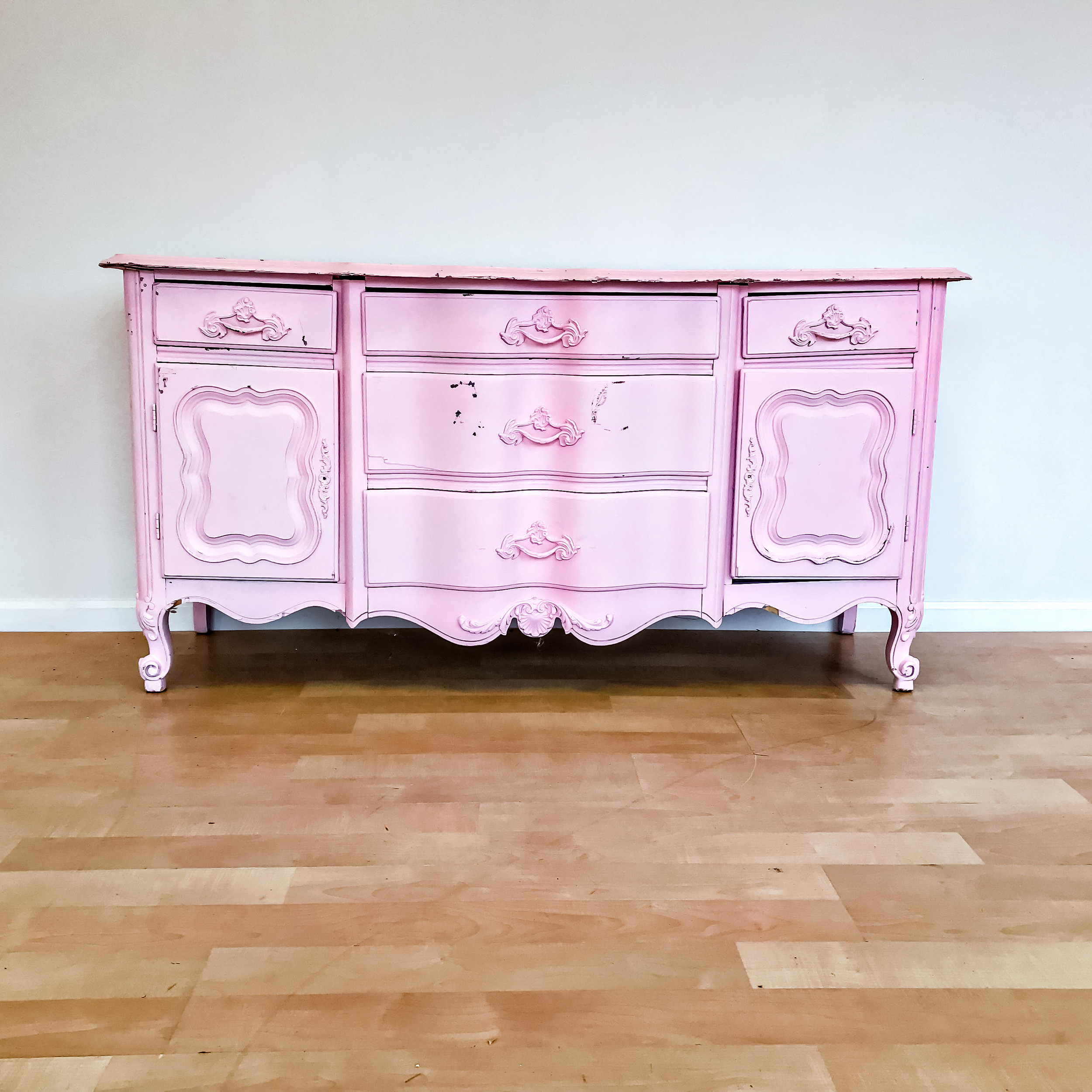 renee landry events pink buffet dresser display decor wedding rentals.jpg