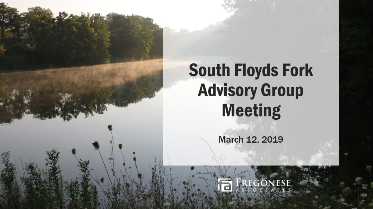 Advisory Group Presentation - March 12, 2019 — The Advisory Group discussed proposed plan revisions to all sections of the plan. → View the Presentation