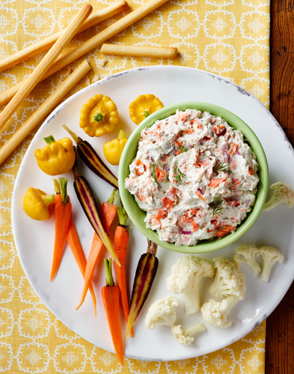Smoked Salmon Dip with Vegetables