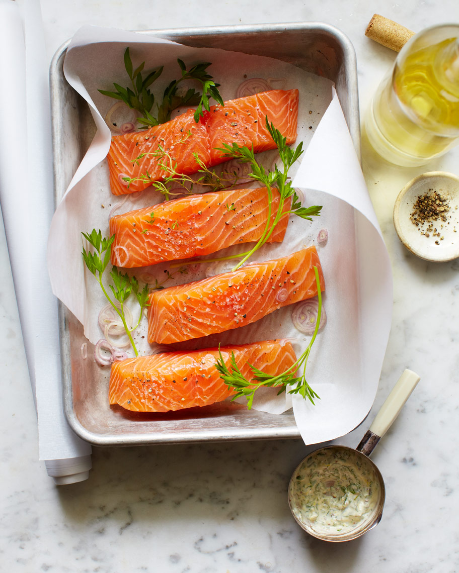 Salmon with Watercress