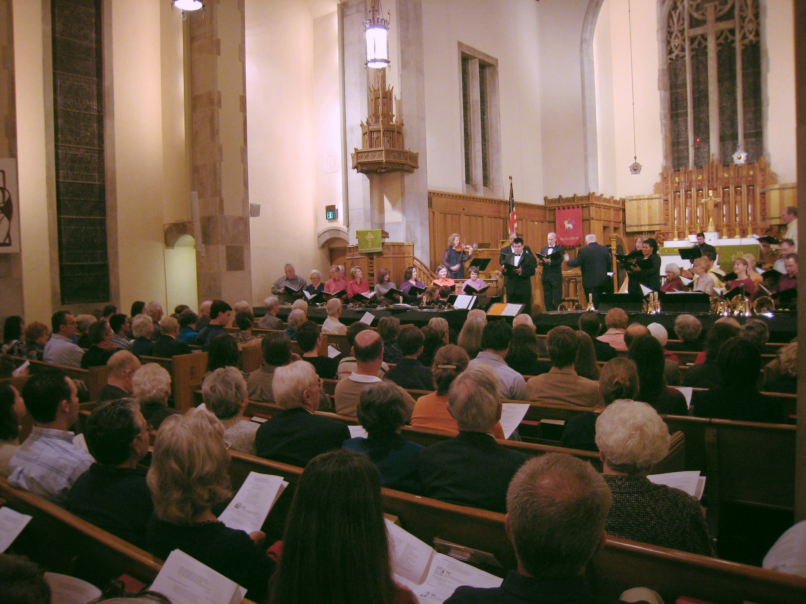 Redeemer Lutheran Church's sanctuary is the concert venue.