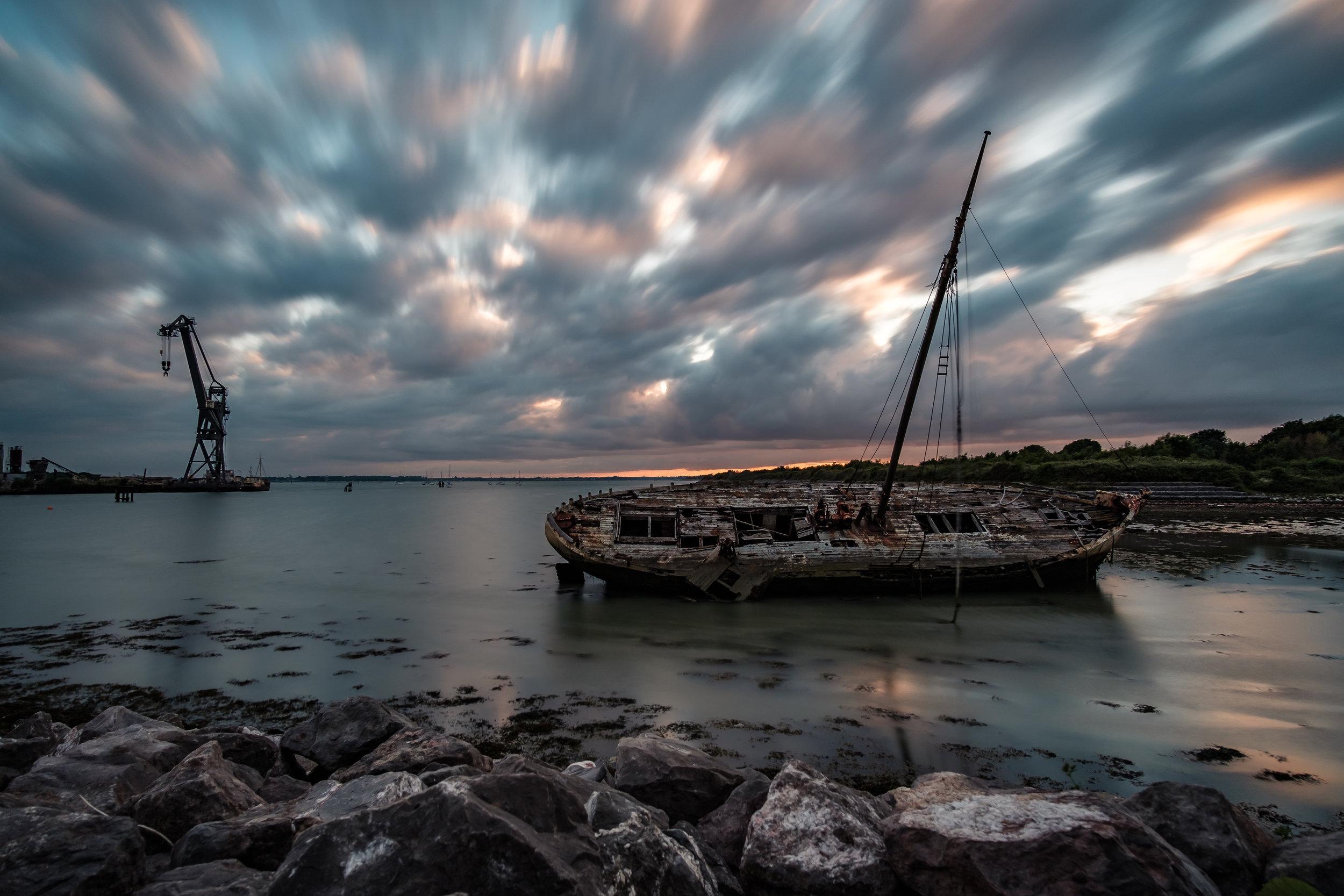Tipner Ship Wreck - Portsmouth, UK