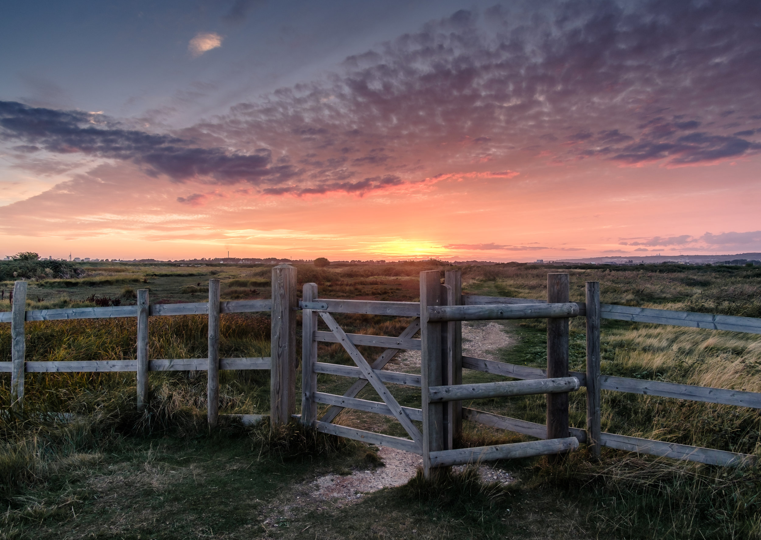 The Gateway to Portsmouth - Farlington Marshes, UK