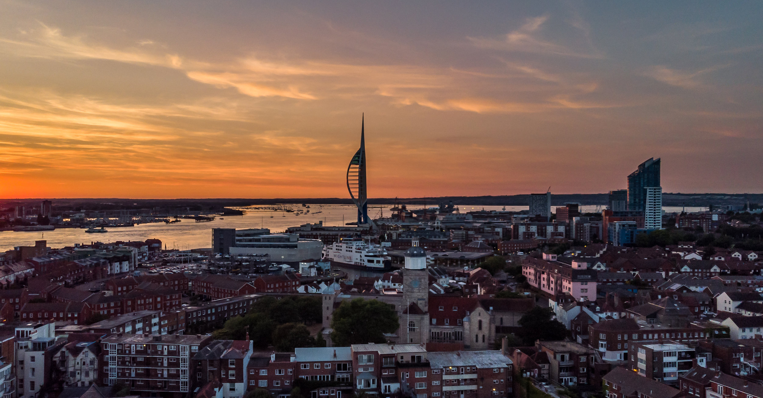 Sunset Over Old Portsmouth - Portsmouth, UK