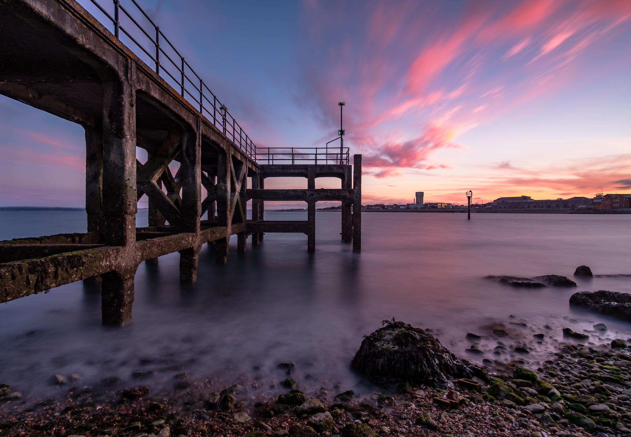 Sunset at Victoria Pier - Old Portsmouth, UK