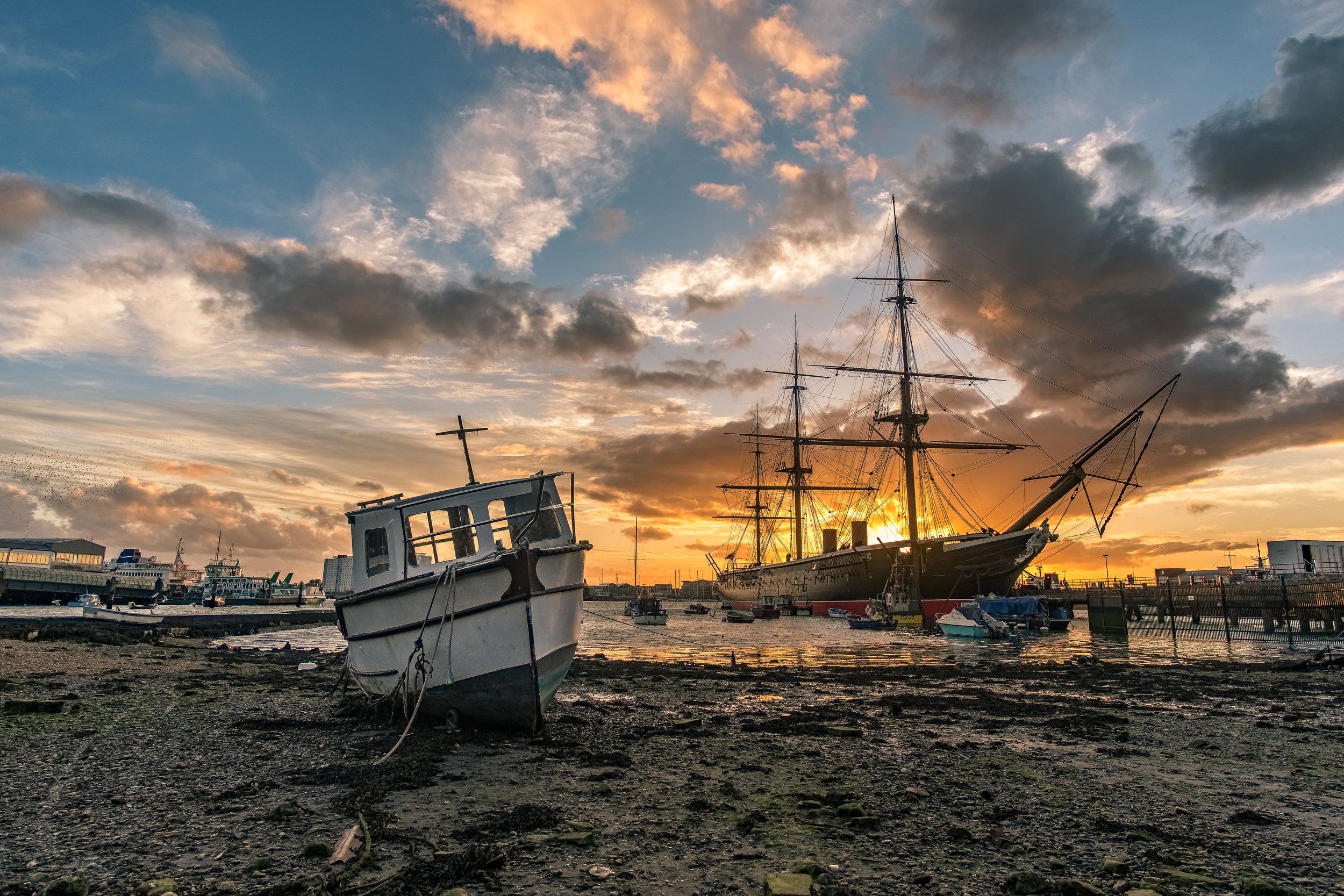 HMS Warrior at Sunset - Portsmouth
