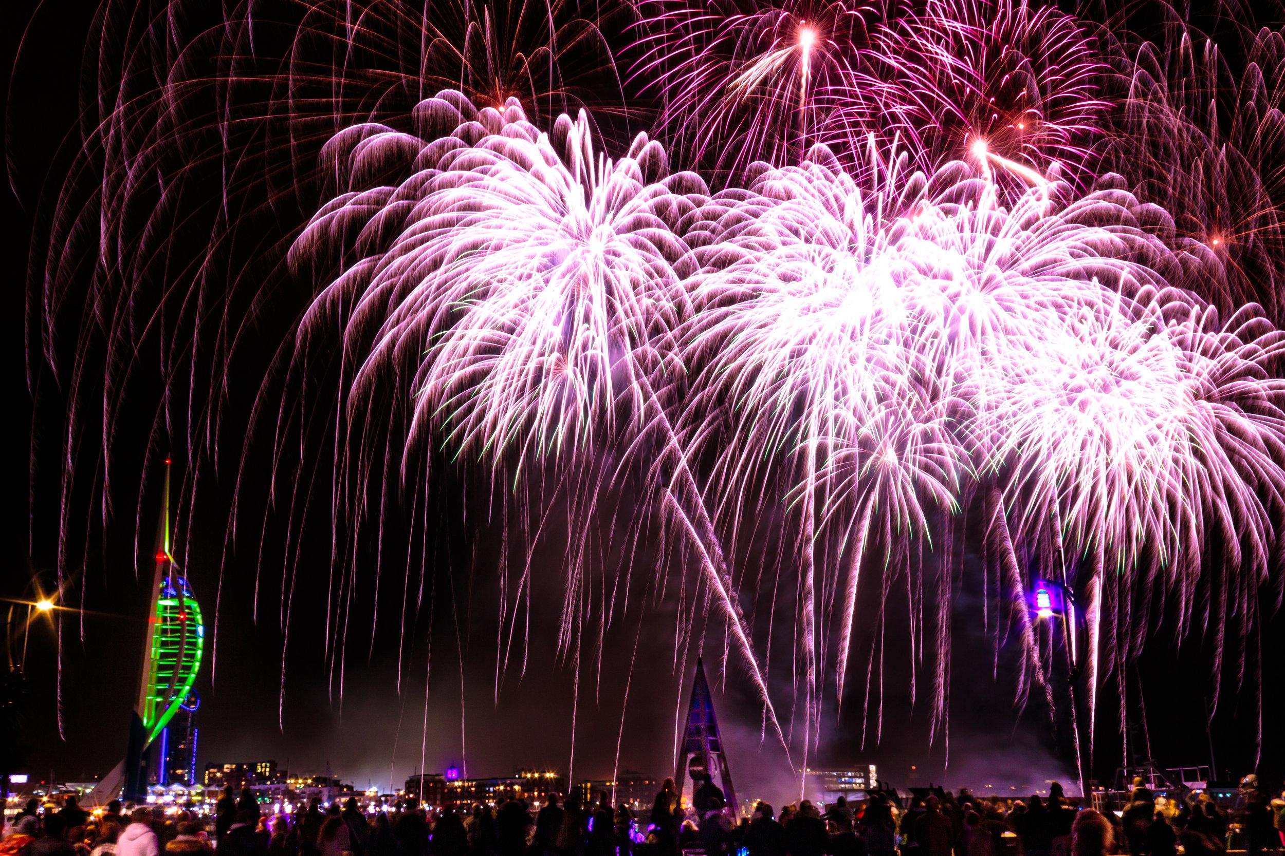Fireworks over Portsmouth - Gosport, UK