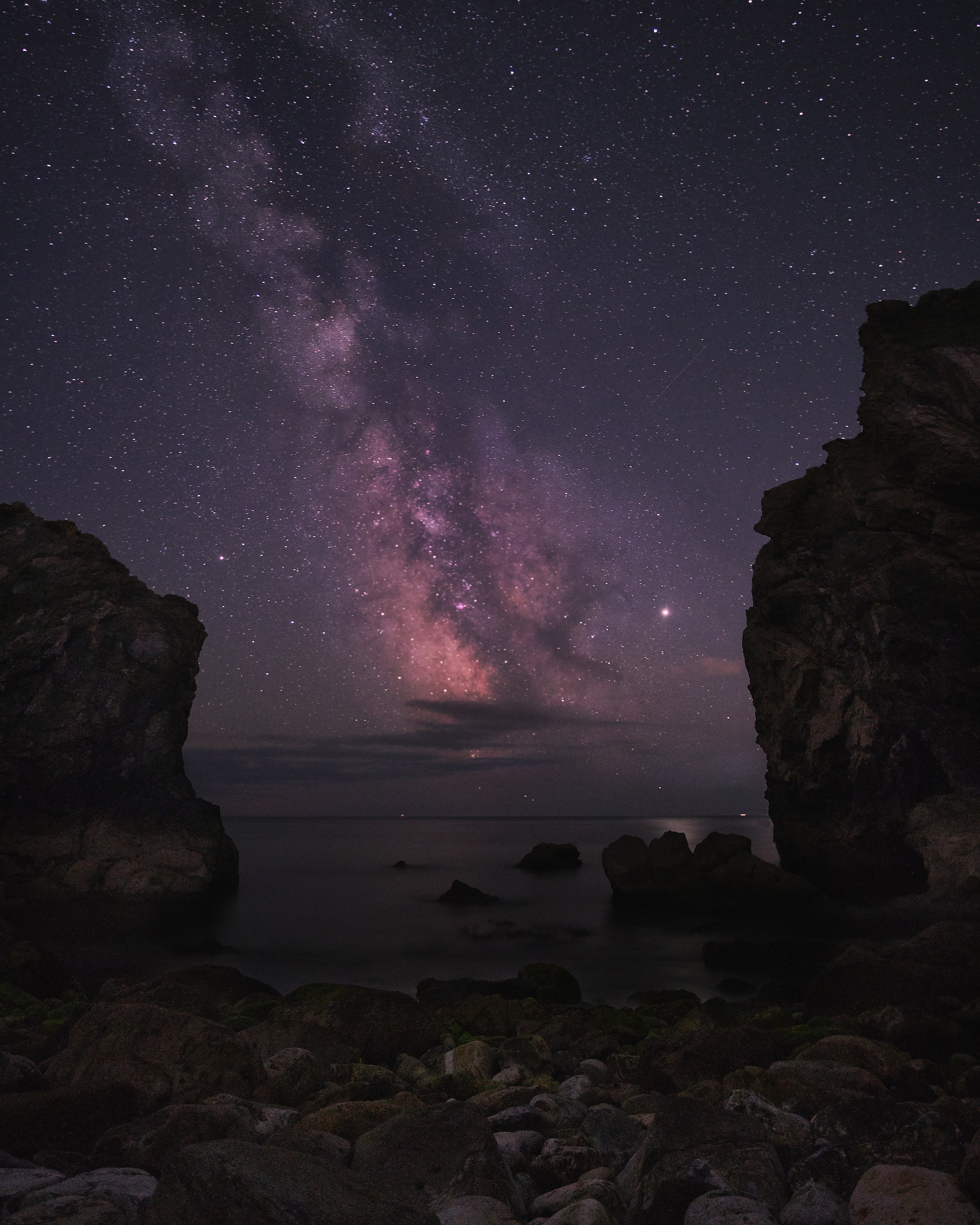 The Milky Way through Stair Hole - Dorset