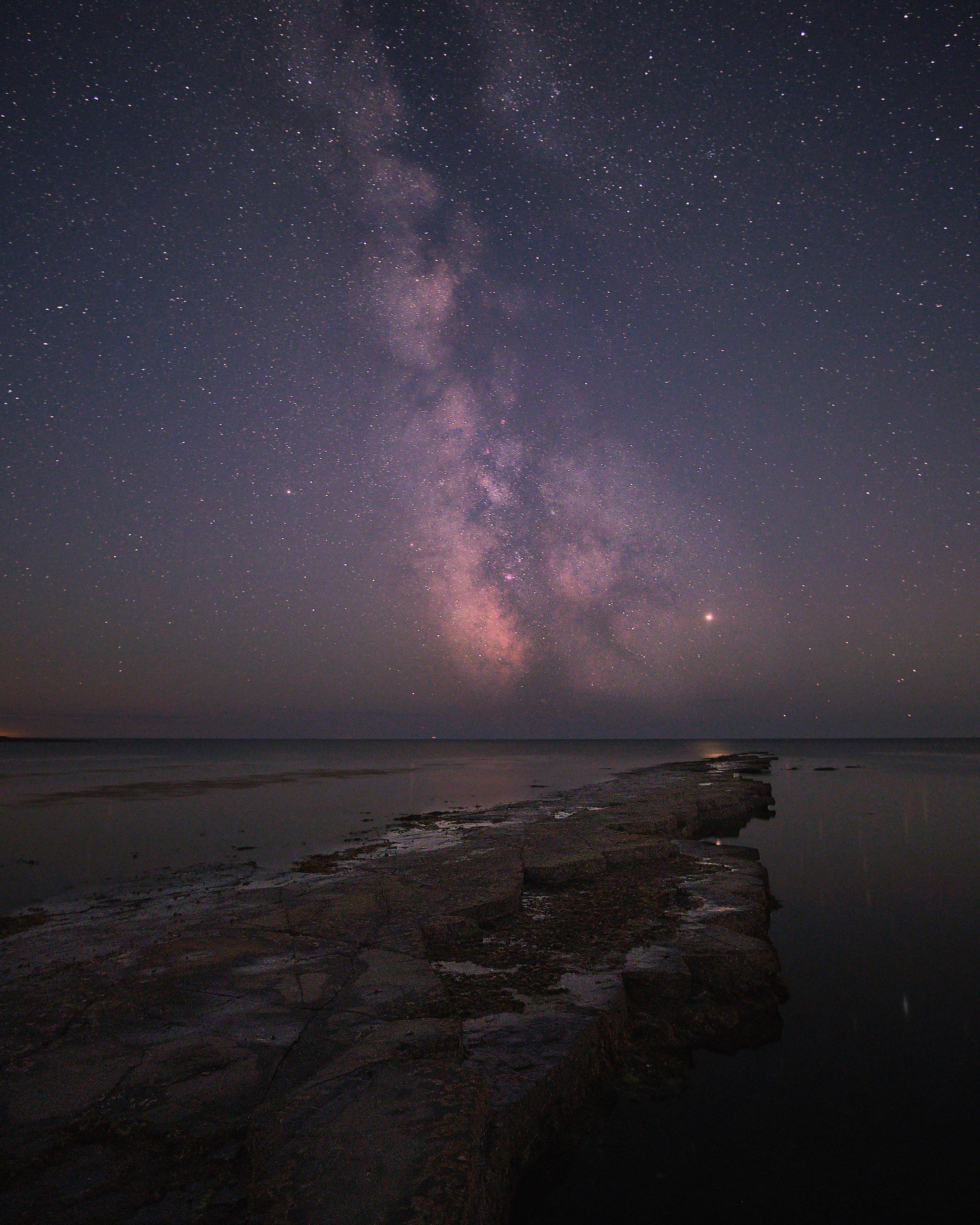 The Milky Way over Kimmeridge Bay - Dorset